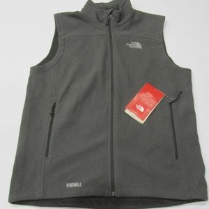 New The North Face Windwall Vest Asphalt Grey Med
